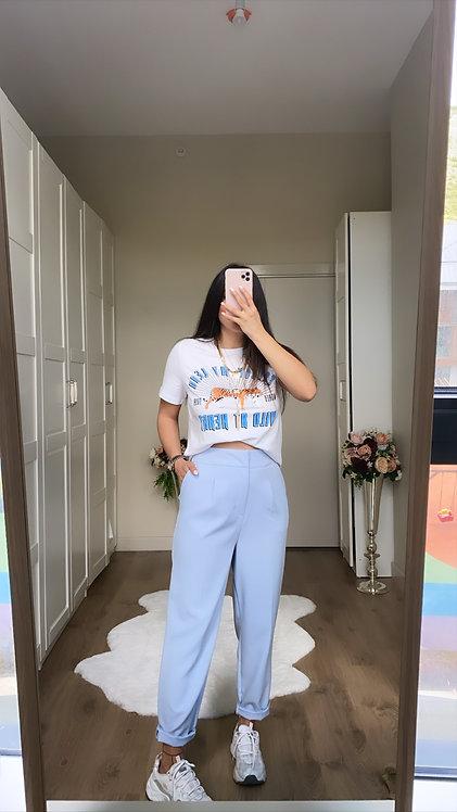 Bebe Mavi Kumaş Pantolon