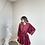 Thumbnail: Bordo kilos kadife elbise