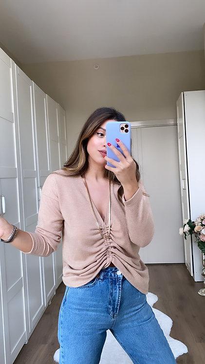 Buzgulu Camel triko Bluz