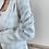 Thumbnail: Beyaz gri gold dugme tuvit ceket