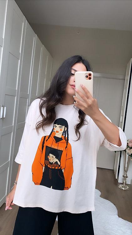 Asyali Kiz Baski Tshirt