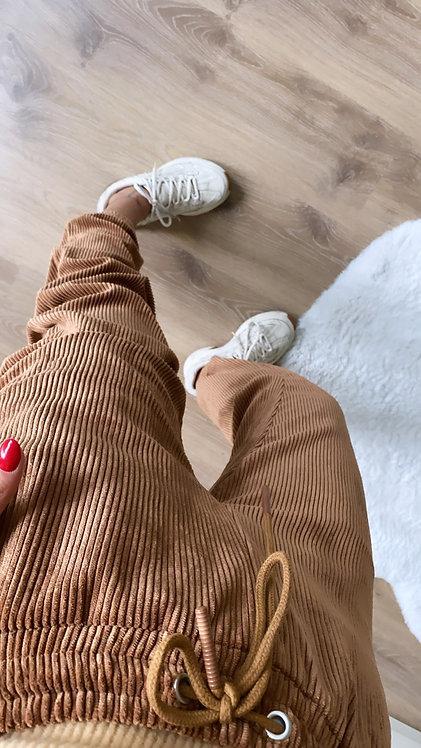Camel kadife Pantolon