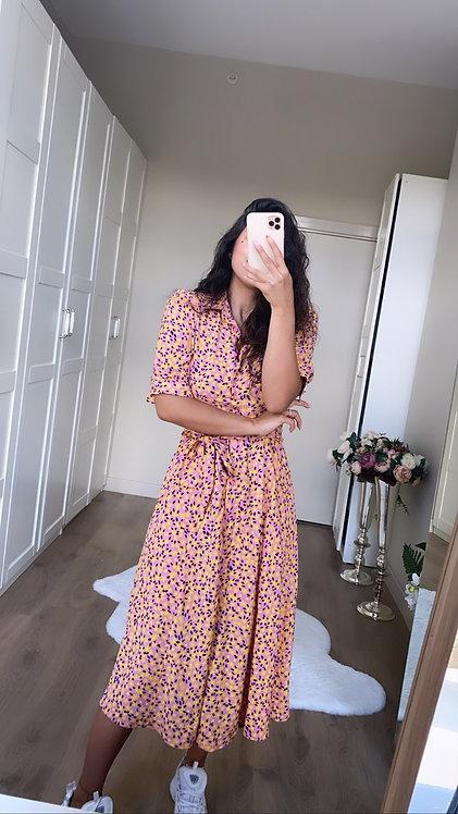 Pembeli Desenli Tiril Elbise