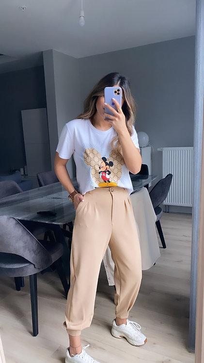 Camel Paca Pensli Kumas Pantolon