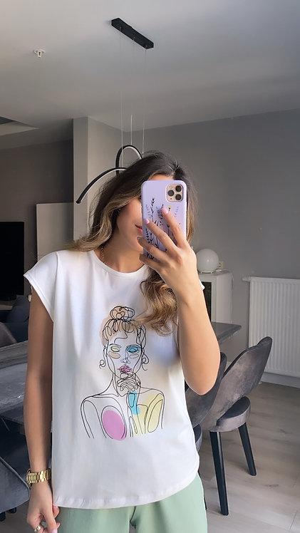 Soft Kiz baski Tshirt
