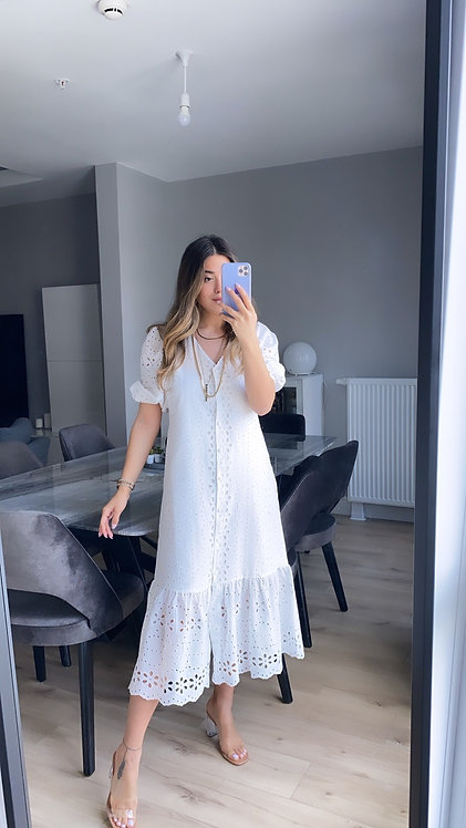 Beyaz Fisto angel Elbise