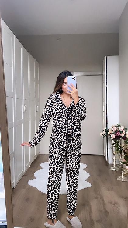 Leoparli Pijama Takim