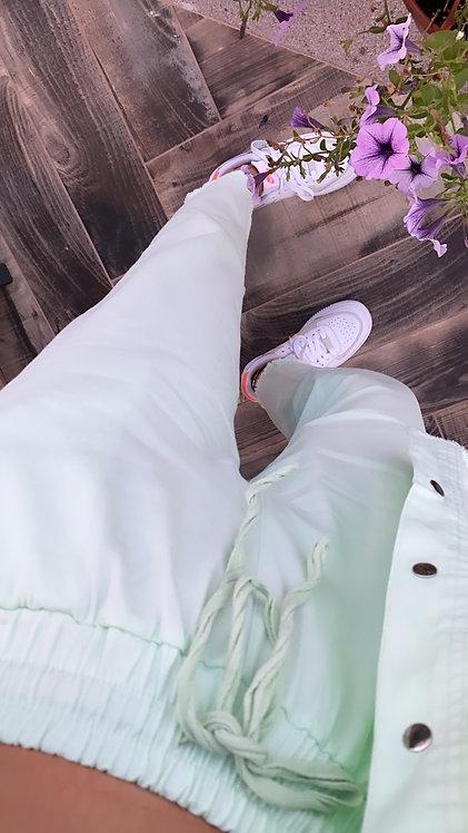 Mint Lastikli Basic pantolon