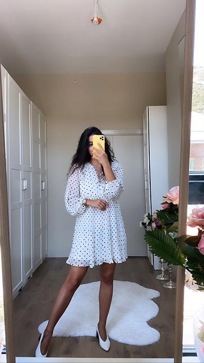 Puantiyeli Elbise