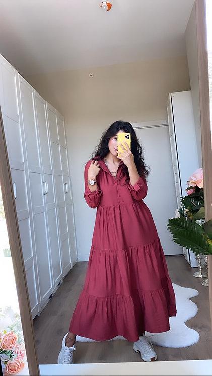 Keten Uzun Elbise