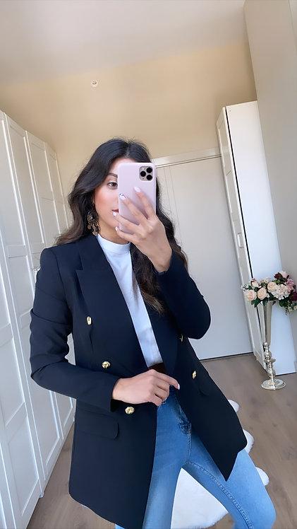 Siyah Gold Düğme Ceket