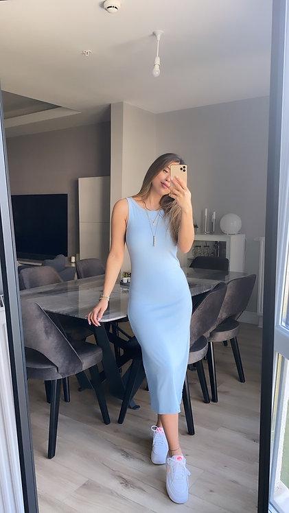 Bebe mavi Kaskorse Basic Kalem elbise