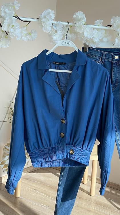 Mavi keten ceket