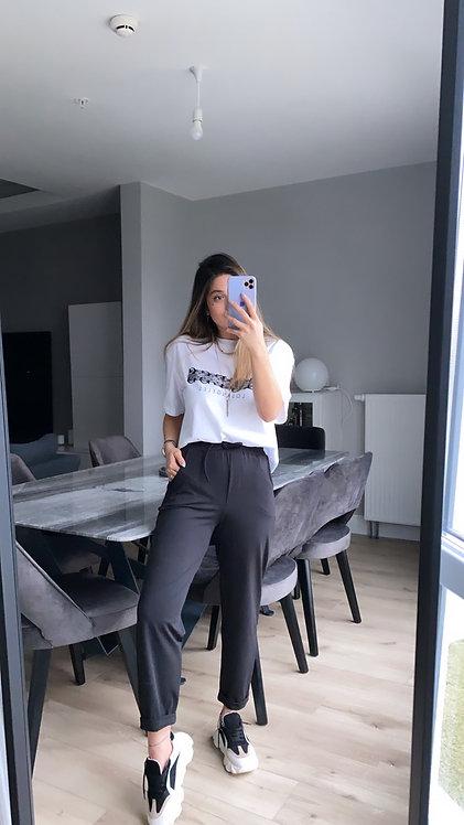 Duble paca siyah dalgic pantolon