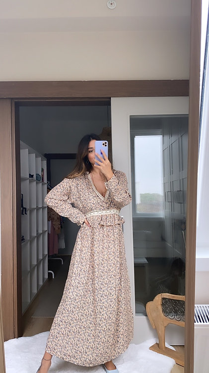Krep Romantik Elbise