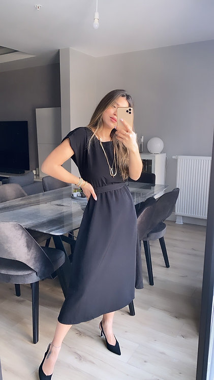 Siyah Tensel Elbise