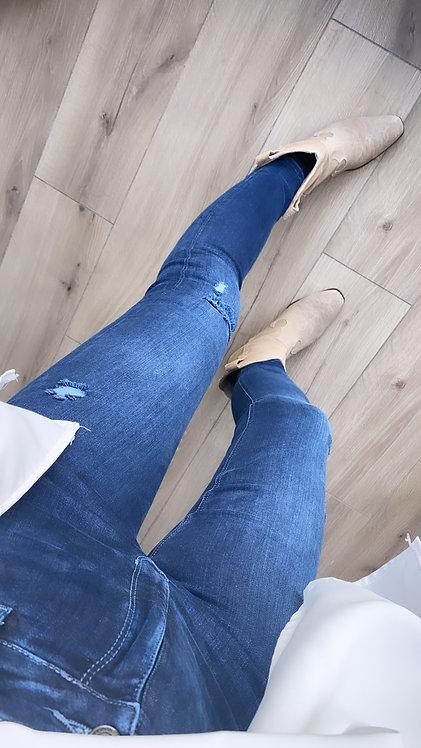 Koyu renk lazerli orjinal jean