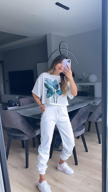 Beyaz Yikamali ozel pantolon