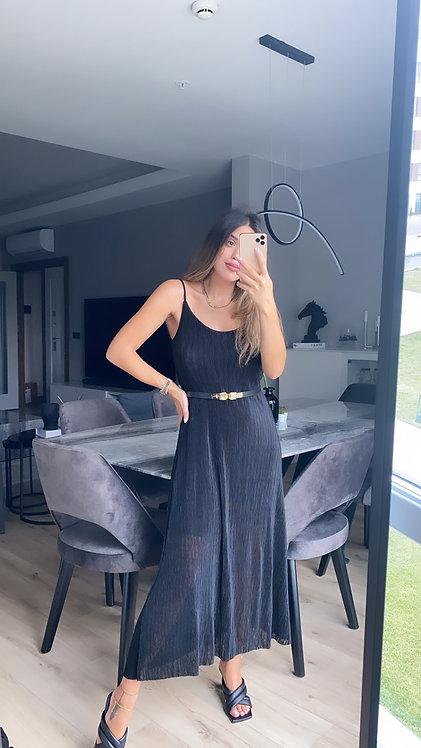 Siyah burumcuk basic elbise
