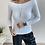 Thumbnail: Beyaz kayik yaka orjinal basic bluz