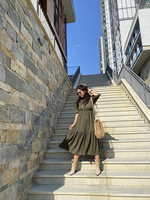 Haki Orijinal Triko Elbise