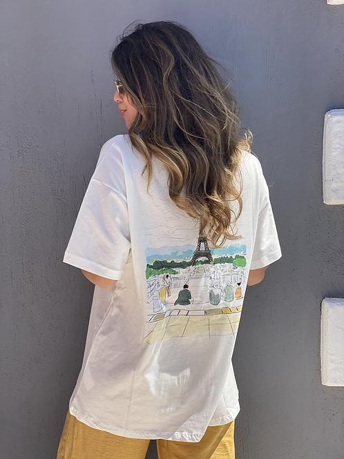 Arkasi Paris Baskili Tshirt