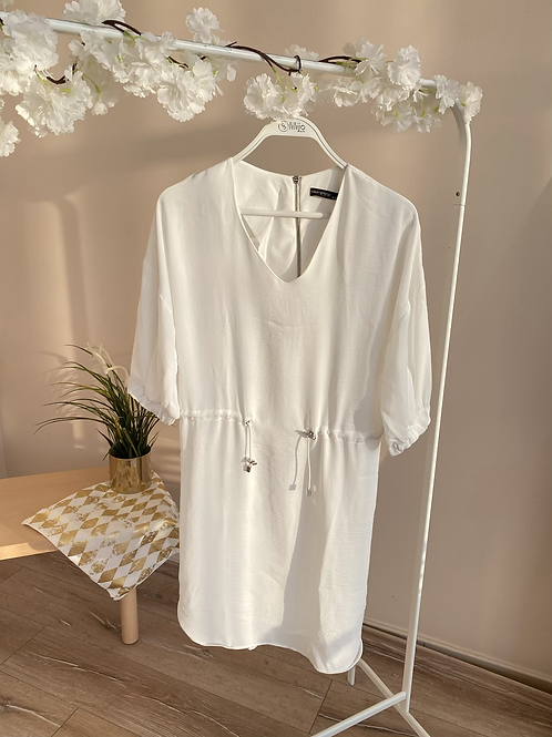 Beyaz krep tunik/elbise
