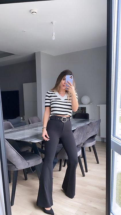 Kemeli Siyah ispanyol Pantolon