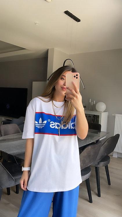 Mavi adidas Baskili Tshirt