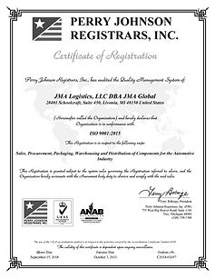 JMA Global ISO 9001-2015 Certificate-pag