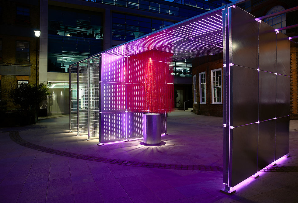 wr-ap be well pavilion night shot - clerkenwell design week 2019