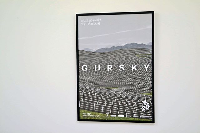 Andreas Gursky_ NOT ABSTRACT展 ポスター(フレーム入り)__#AndreasGursky_#Satellite_#art #artbook #artshop #artgal