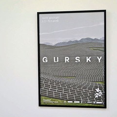 Andreas Gursky: NOT ABSTRACT展 ポスター(フレーム入り)