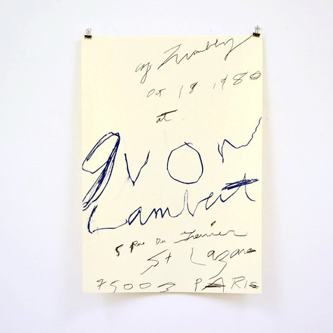 Cy Twombly: print, 1980 ポスター