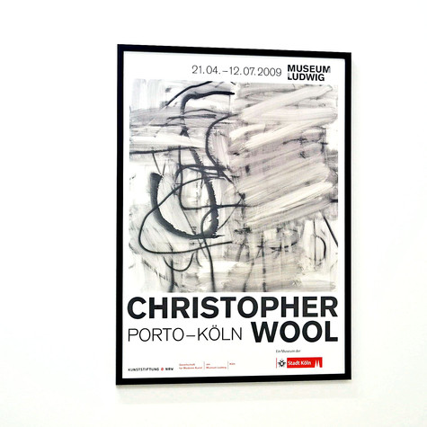 Christopher Wool: Museum Ludwig, 2009 展覧会ポスター(フレーム入り)