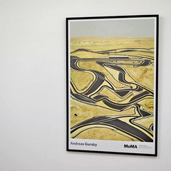 Andreas Gursky: Bahrain I, ポスター(フレーム入り)