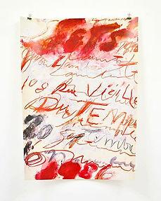 Cy Twombly_ print, 1986 ポスター_サイ・トゥンオブリーの