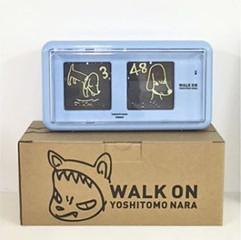 奈良美智: Nara clock WALK ON mini(blue)