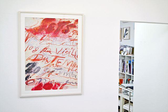 Cy Twombly_ print, 1986 ポスター(フレーム入り)__#CyTwombly_#Satellite_#art #artbook #artshop #artgallery_#現代アー