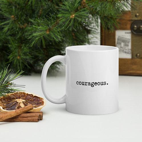 Mug - white I AM courageous