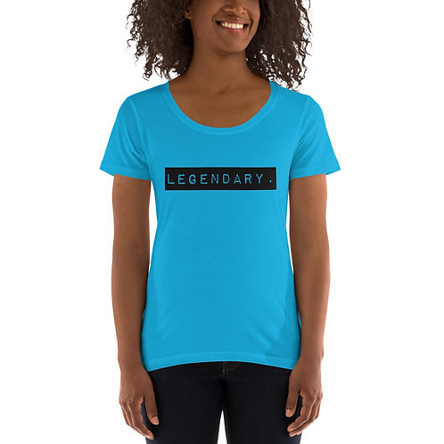 Ladies' Scoopneck T-Shirt I AM LEGENDARY