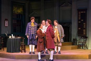 Challenging Thomas Jefferson, played by Michael Padgett