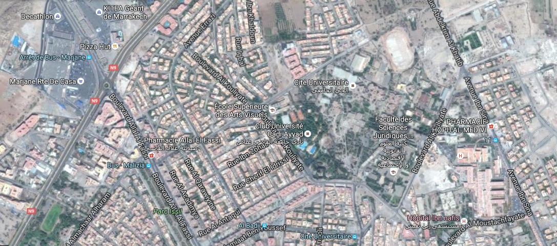 Plan CUCA BD Al Kouliyate Marrakech