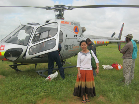 The Blessed Helicopter on Thanksgiving Day in Dadaab
