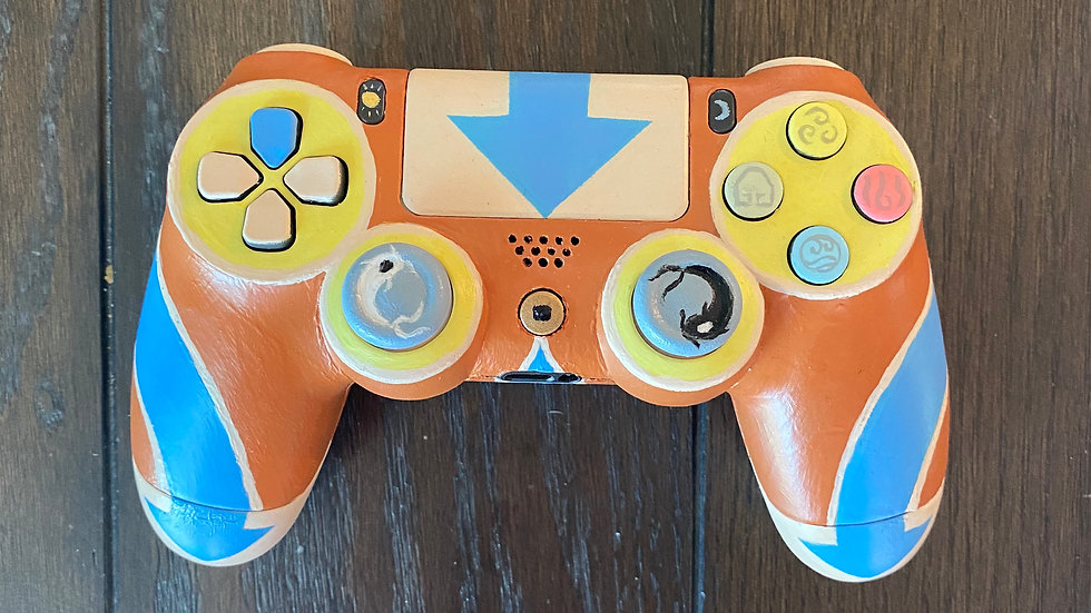 Avatar Aang   Hand-Painted PS4 Controller