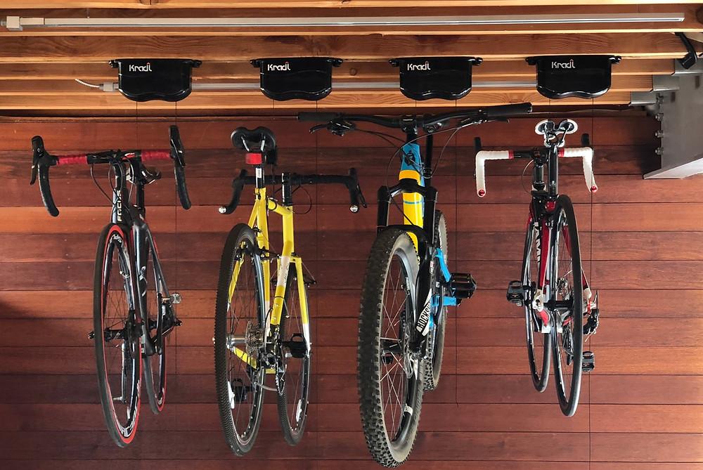 Kradl Bike Lift Storage System
