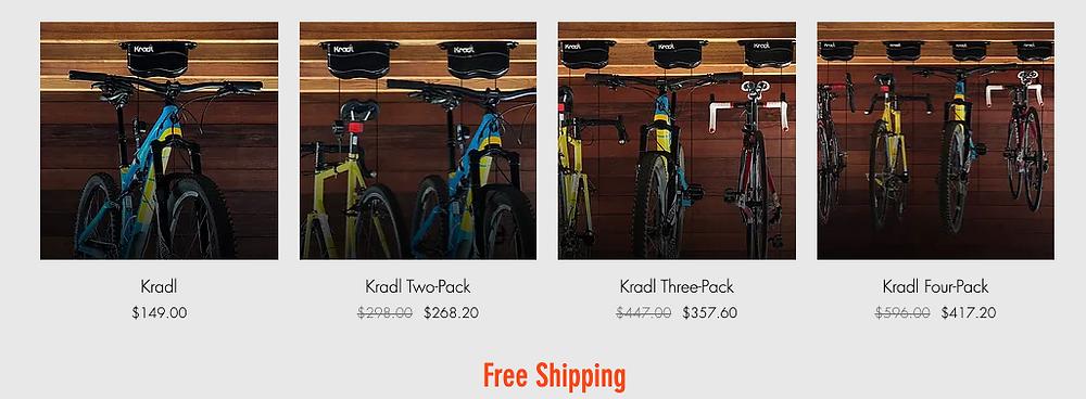 Kradl bike storage pricing