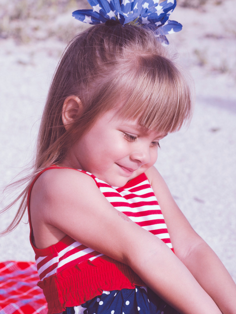 Young girl with Striped Shirt