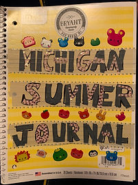 Michigan Summer Journal cover page