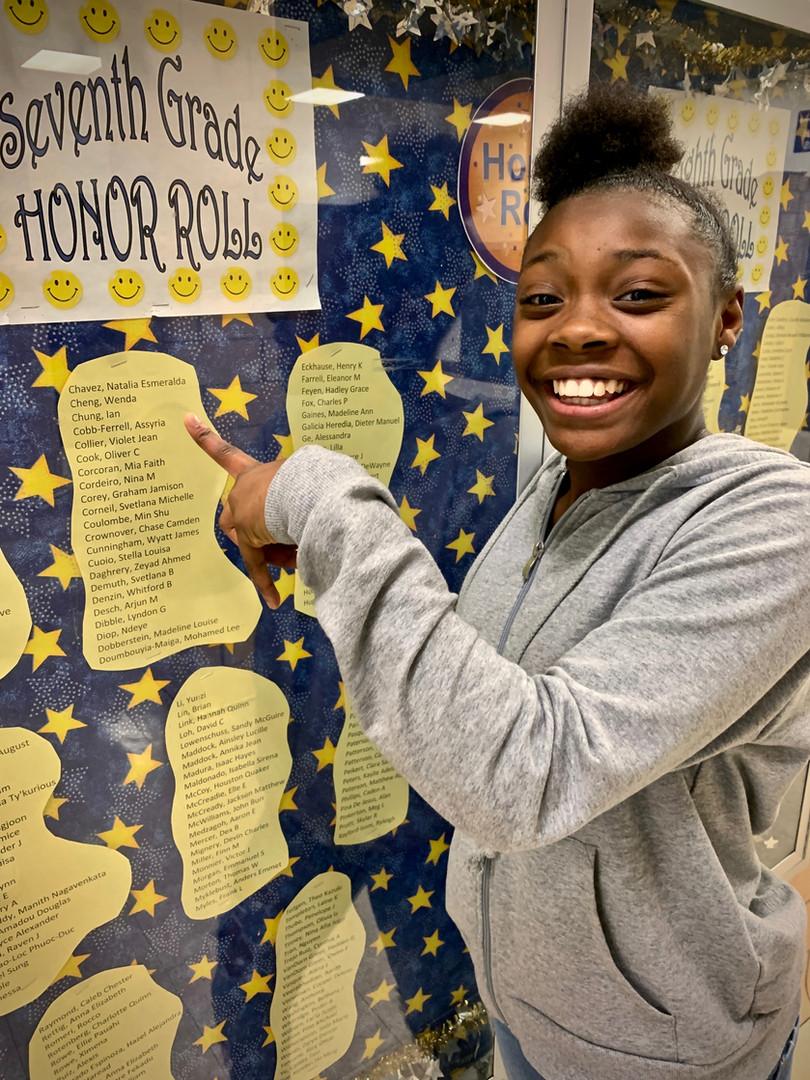 Seventh Grade Honor Roll